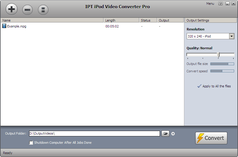 IPT iPod Video Converter Screen shot